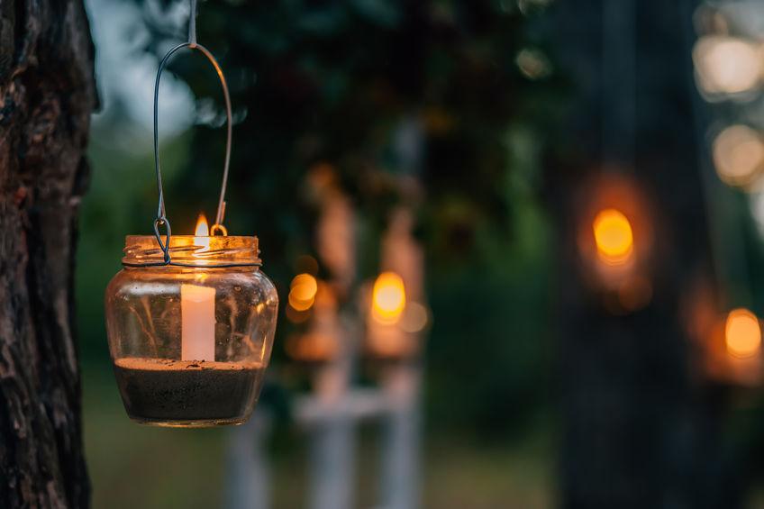 candles garden