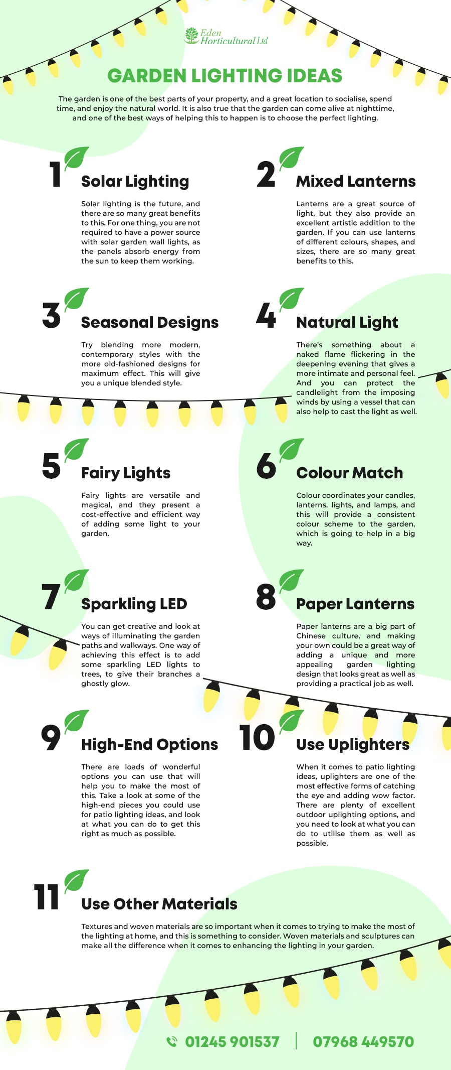 garden lightning ideas
